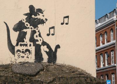 Banksy rat Hayne Street