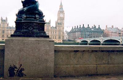 Banksy graffiti houses of parliament
