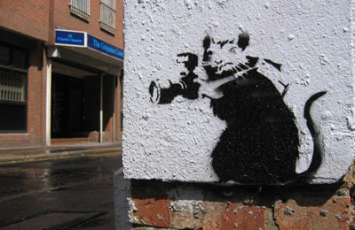 Banksy rat photographer