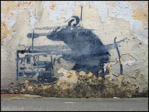 Banksy rat remote detonator