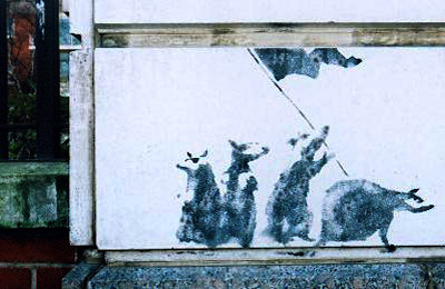 Banksy Rat revolution photo