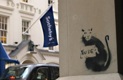 Banksy rat _ Sotheby's of London Bond Street