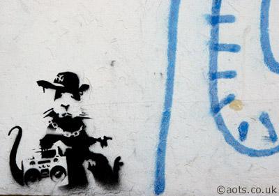 Banksy Spitalfields Market Rat