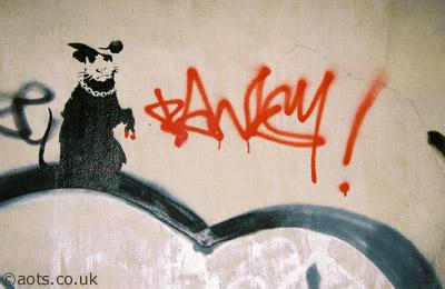 Banksy tagger scum rat