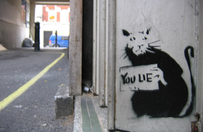 Banksy You Lie Bond Street rat