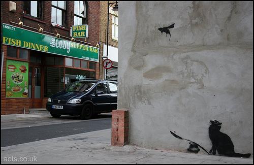 Banksy ratapault