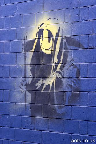 Banksy Reaper _ Scrutton Street