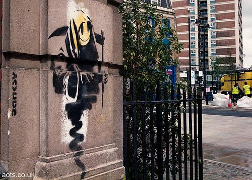 Banksy Reaper Old Street