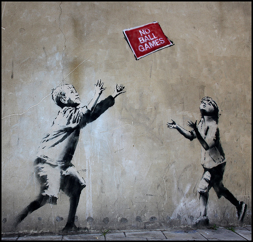 Banksy 'No Ball Games'