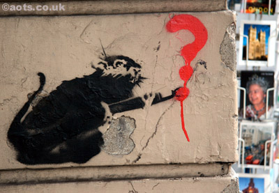 Banksy Victoria Station Rat