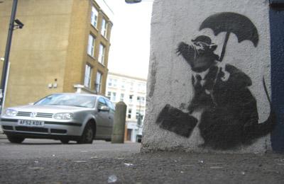 Banksy Rat with VW
