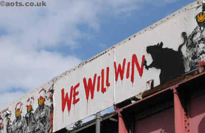 "Banksy Old Street ""We Will Win"""