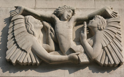 BBC, Langham Place, London _ relief detail