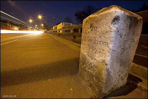 A30 Milestone, Staines Road, Hounslow