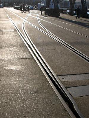Railway tracks, Harbourside, Bristol