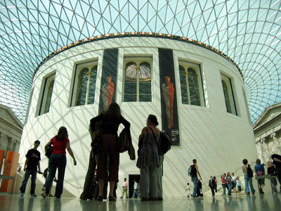 British Museum Great Court Roof _ Ground Floor view