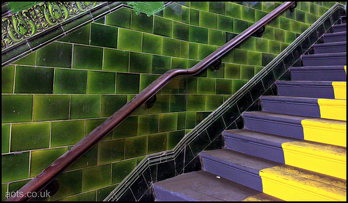 Brompton Road station stairs
