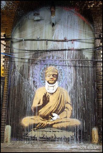 Banksy Buddha