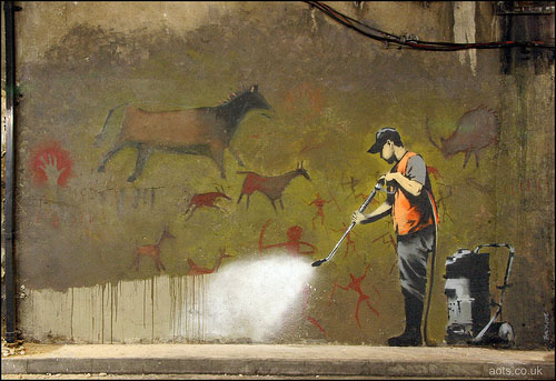 Banksy cave painting buff