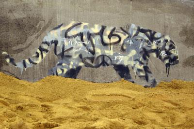 Banksy tag animal