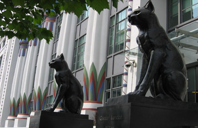 Carreras Cigarette Factory cats