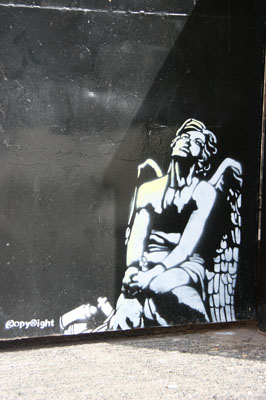 Copyright Angel stencil