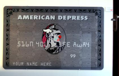 DFace Apopcalypse American Depress Card