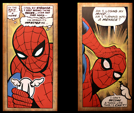 Dface Apopcalypse Now Spiderman canvases