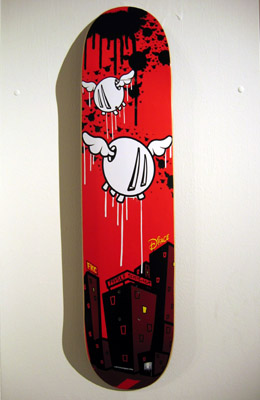 customised skate board