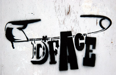 DFace safety pin tag stencil