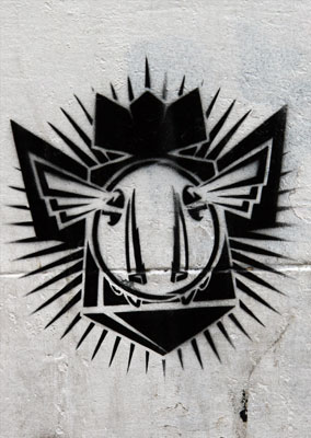 DFace Street stencil ddog