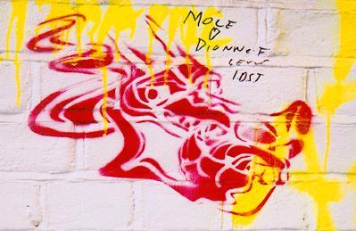 Dragon stencil,  Brighton graffiti