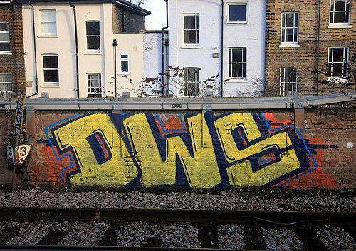 DWS trackside graffiti