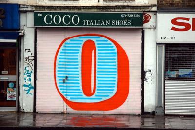 Eine letter O graffiti
