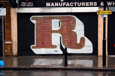 Eine letter R graffiti