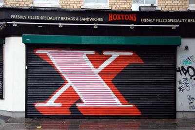 Eine letter X graffiti