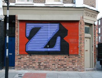 Eine letter Z graffiti