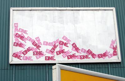 Eine stencil graffiti