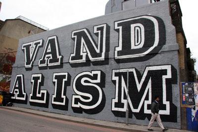 Eine Vandalism graffiti