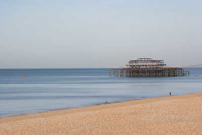 Empty Brighton Beach