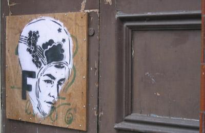Faile stencil graffiti