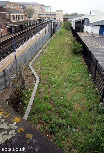 Feltham station siding