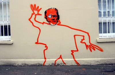 Frankenstein graffiti