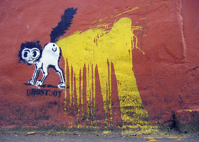 Ghostboy cat stencil
