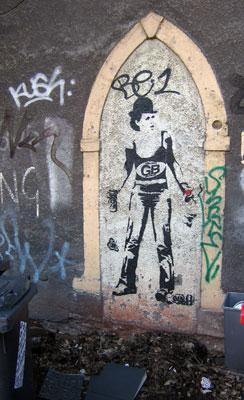 Ghostboy stencil figure