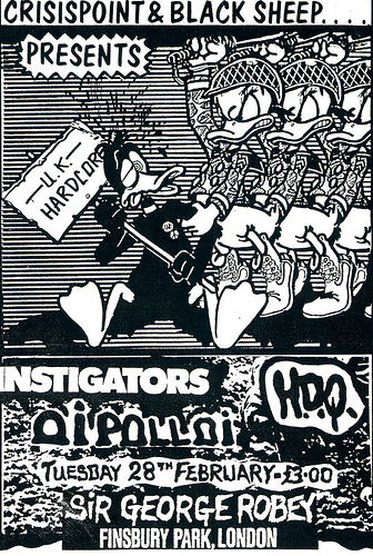 Instigators, HDQ, Oi Polloi at the George Robey - gig flyer