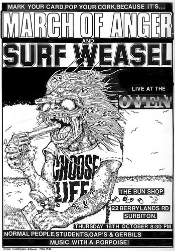 March of Anger and Surf Weasel gig flyer