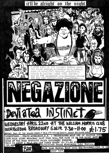 Negazione and Deviated instinct tour flyer