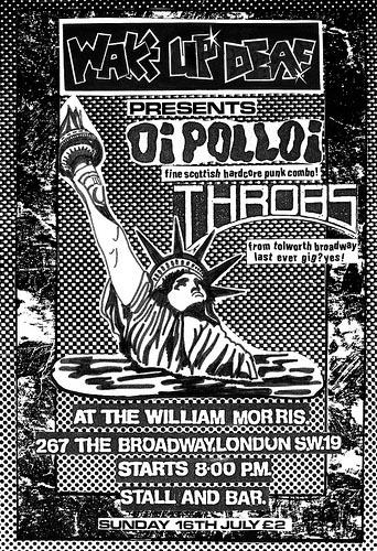 Oi Polloi and The Throbs gig flyer