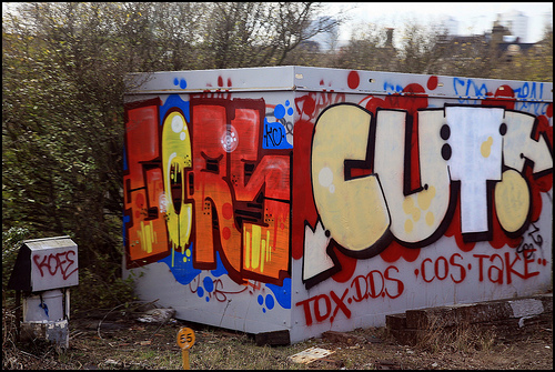 Gors and Cut! graffiti